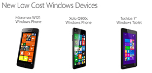 Low-cost Windows devices