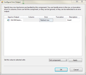 Configure Error Output dialog