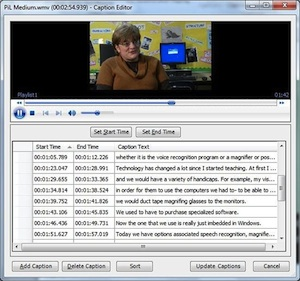 Microsoft STAMP software includes TTML import support and a basic caption editor for creating subtitles from scratch.