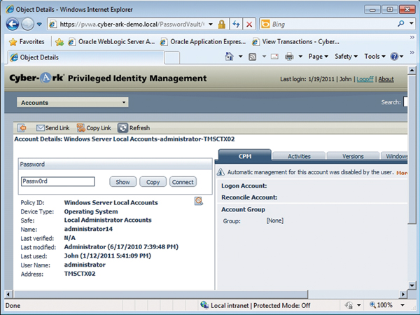 Review: Cyber-Ark Privileged ID Management Suite