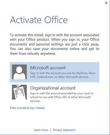 activating office 2013