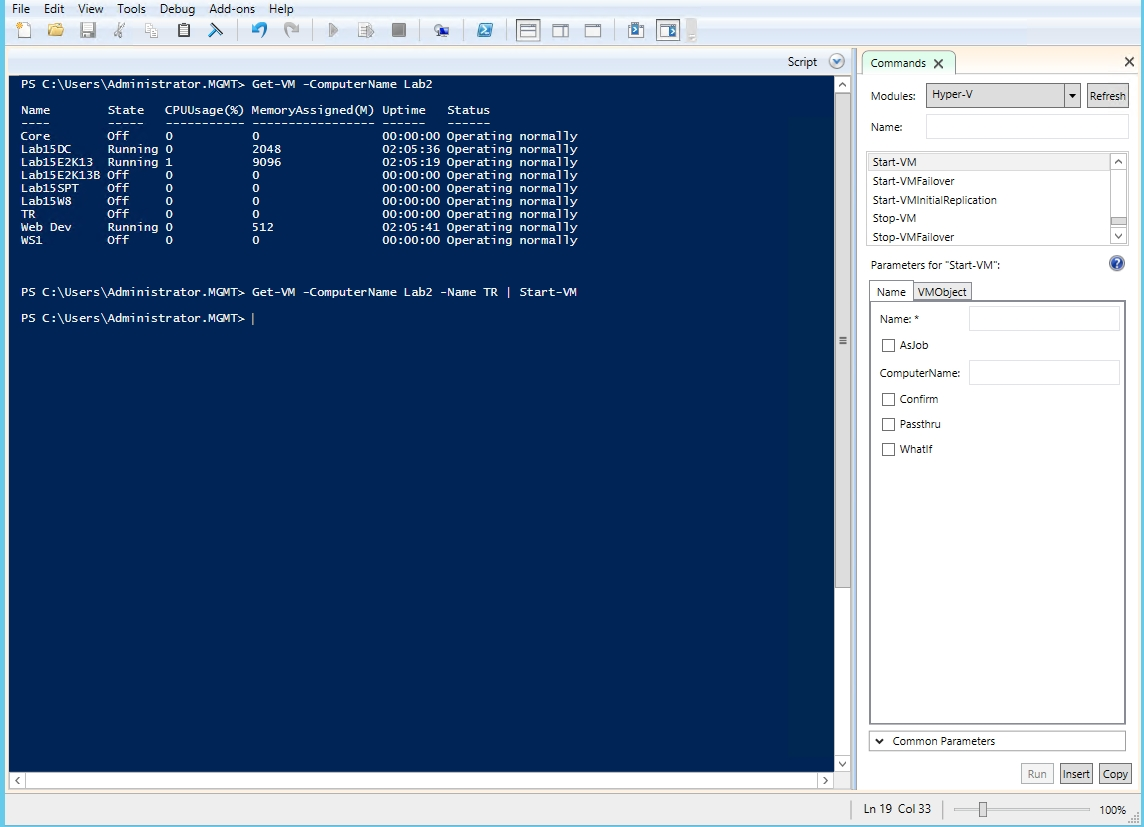 Using the PowerShell Integrated Scripting Environment