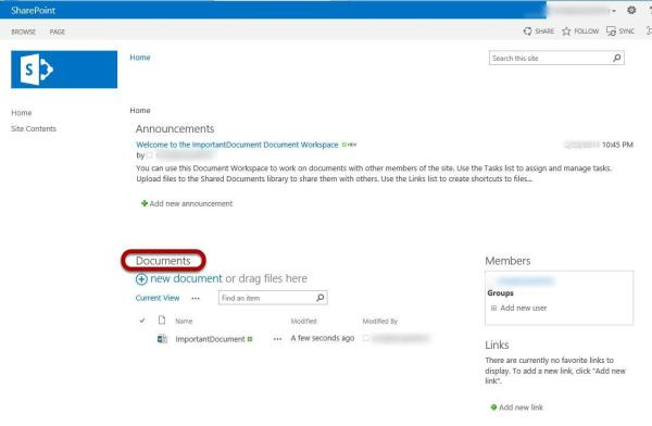 How To Create a Document Workspace in SharePoint 2013 ...
