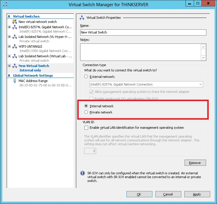 Hyper-V Private vs  Internal Virtual Switches: Which to
