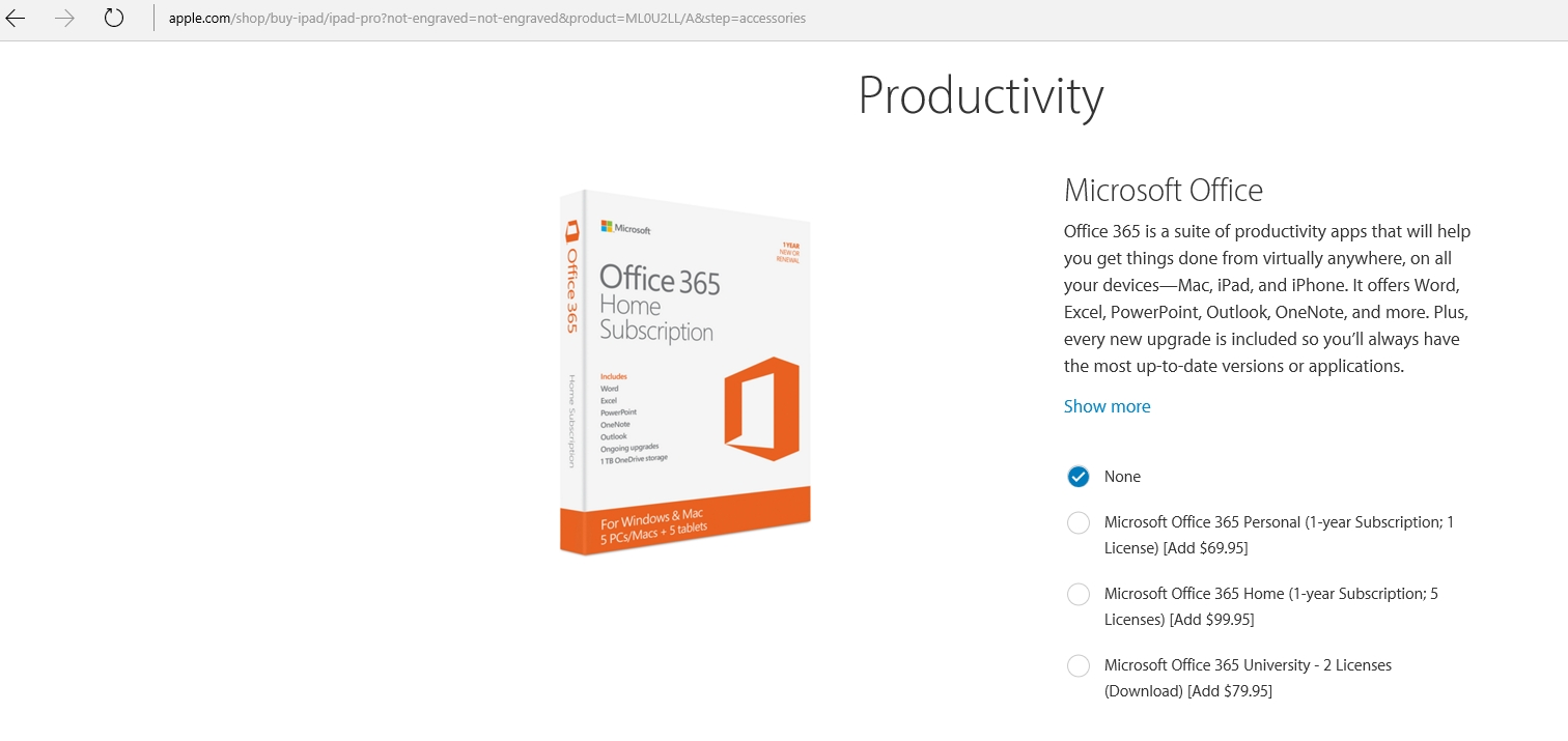 Why Apple Is Offering Office 365 for the iPad Pro