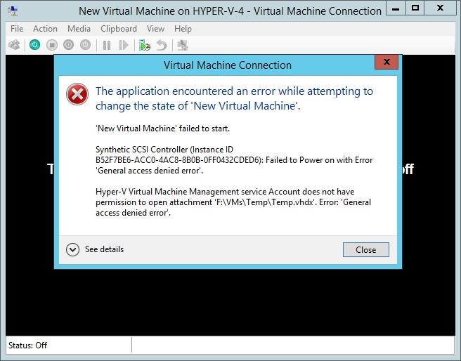 an error was detected on device during a paging operation server 2016
