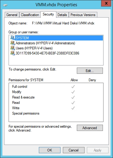 Addressing Hyper-V Virtual Hard Disk Permission Problems