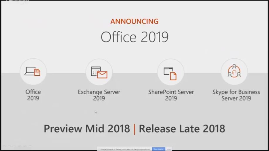 Office 2019 and New Microsoft Server Products Planned for Release