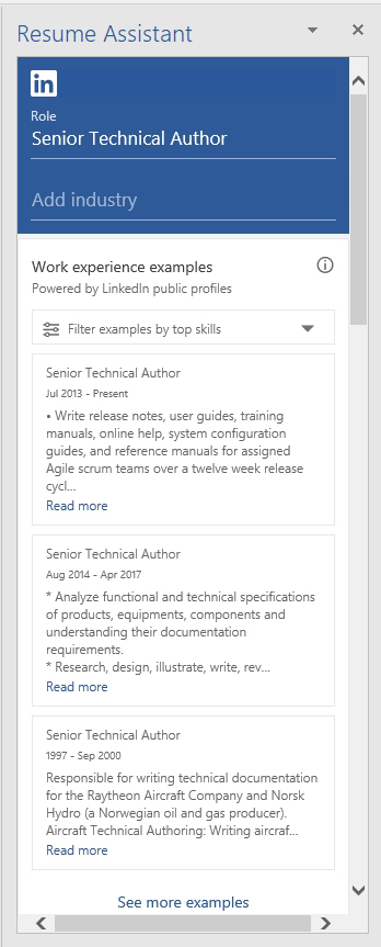 Using Microsoft Word\'s LinkedIn-Powered Resume Assistant ...