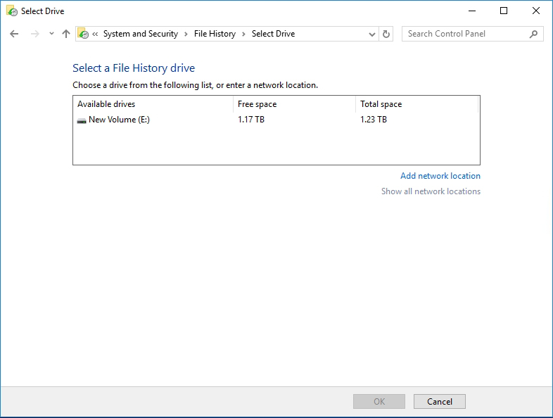 How To Configure a File History Backup for Windows 10