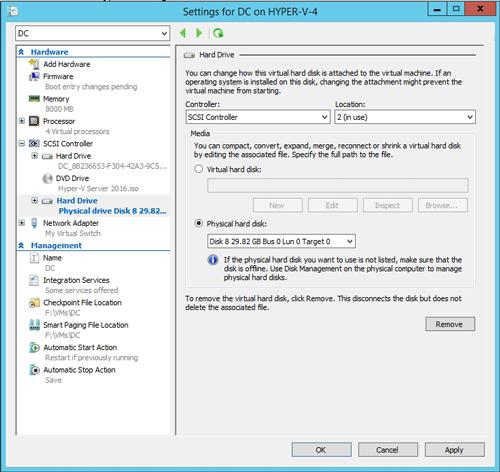 install hyper-v server 2016 from usb