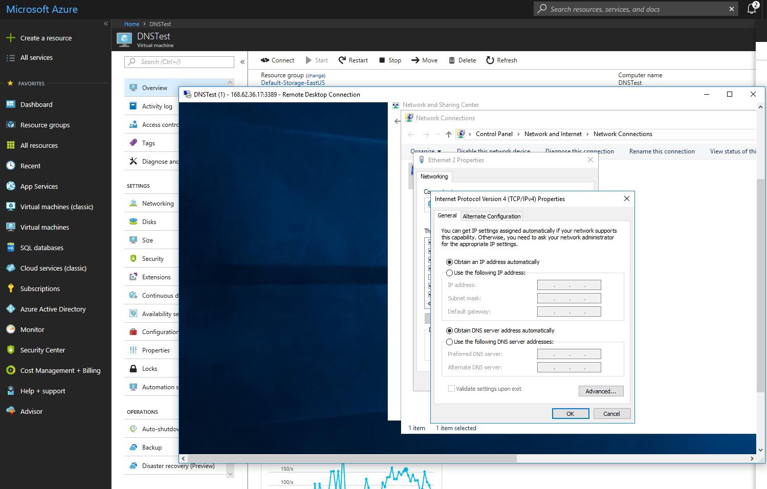 How To Change The Dns Settings Of An Azure Vm Redmondmag Com