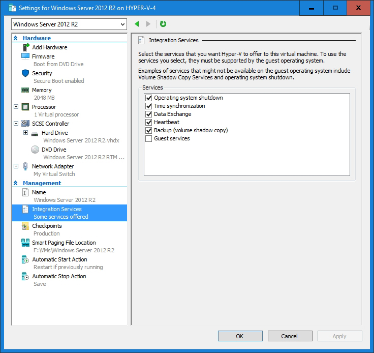 Provisioning Outdated OSes with Hyper-V 2016 Integration Services