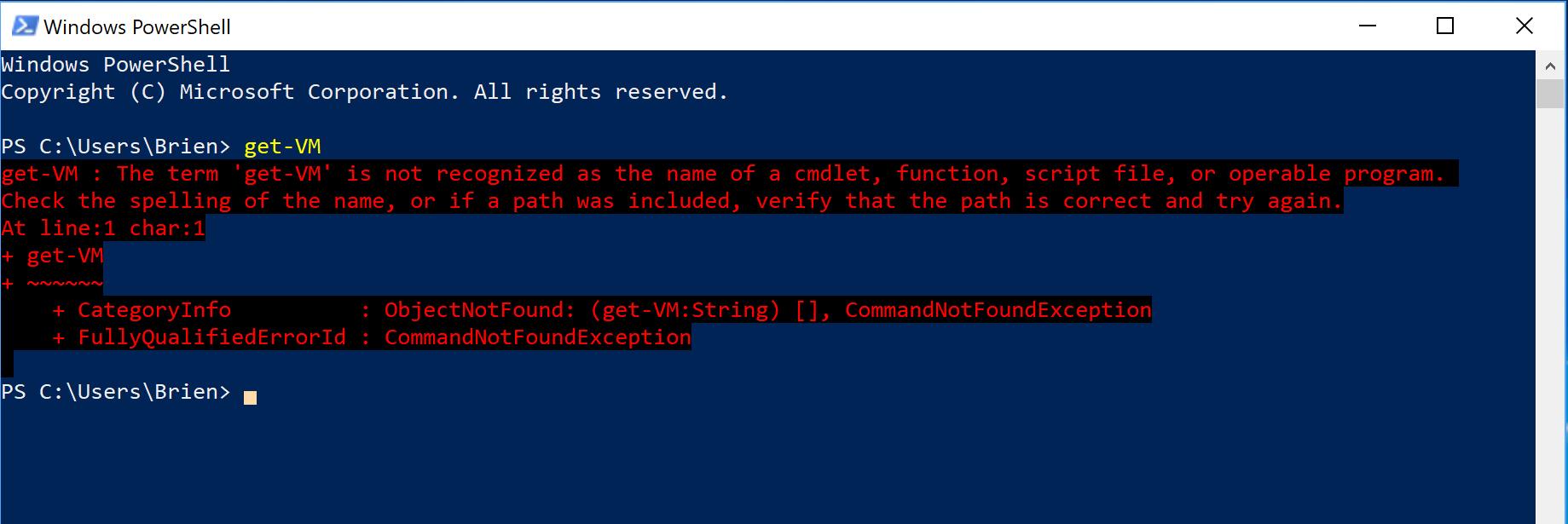 Installing the Hyper-V Module for PowerShell -- Redmondmag com